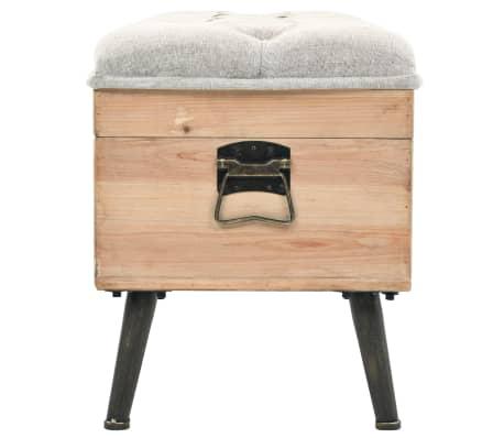 vidaXL Suoliukas-daiktadėžė, masyvi mediena ir MDF, 120x40x50 cm[3/11]