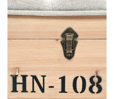 vidaXL Suoliukas-daiktadėžė, masyvi mediena ir MDF, 120x40x50 cm[8/11]