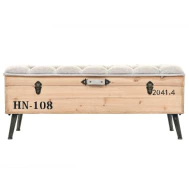 vidaXL Suoliukas-daiktadėžė, masyvi mediena ir MDF, 120x40x50 cm[2/11]