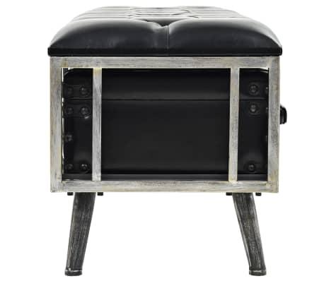 vidaXL Suoliukas-daiktadėžė, MDF ir dirbtinė oda, 120x41x46,5cm[4/11]