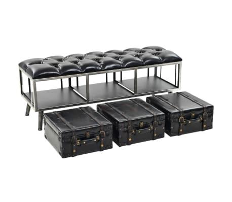vidaXL Suoliukas-daiktadėžė, MDF ir dirbtinė oda, 120x41x46,5cm[5/11]