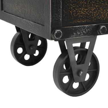 vidaXL Klupa za pohranu od masivnog drva i umjetne kože 80,5 x 41 x 50 cm[7/10]