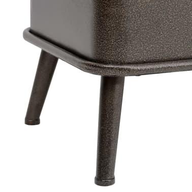 vidaXL Suoliukas-daiktadėžė su atrama nug., dirbtinė oda, 120x52x75 cm[8/9]