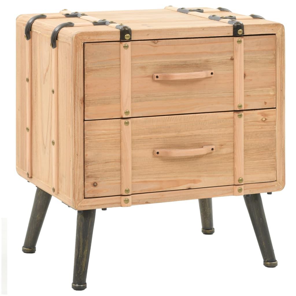 vidaXL Noční stolek z masivního jedlového dřeva 50 x 35 x 57 cm