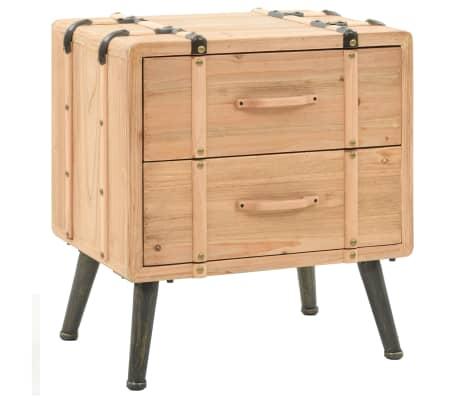 vidaXL Naktinis staliukas, eglės mediena, 50x35x57cm