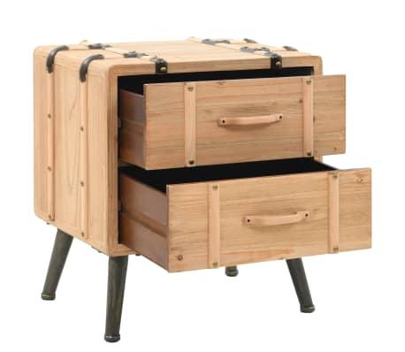 vidaXL Naktinis staliukas, eglės mediena, 50x35x57cm[4/8]