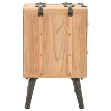 vidaXL Naktinis staliukas, eglės mediena, 50x35x57cm[3/8]