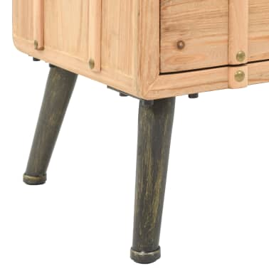 vidaXL Naktinis staliukas, eglės mediena, 50x35x57cm[6/8]