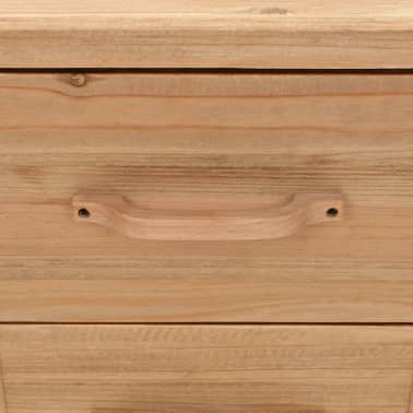vidaXL Naktinis staliukas, eglės mediena, 50x35x57cm[7/8]