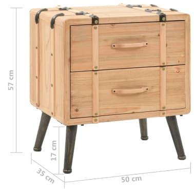 vidaXL Naktinis staliukas, eglės mediena, 50x35x57cm[8/8]
