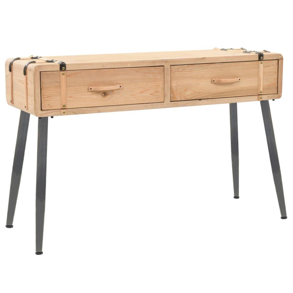 vidaXL Konzolový stolek masivní jedlové dřevo 115 x 40,5 x 76 cm