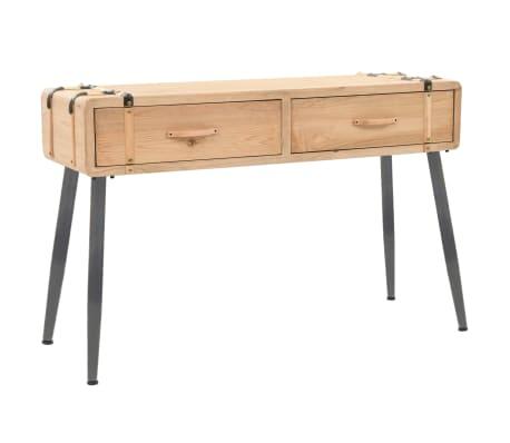 vidaXL Konsolipöytä täysi kuusi 115x40,5x76 cm