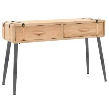 vidaXL Table console Bois massif de sapin 115 x 40,5 x 76 cm[1/9]
