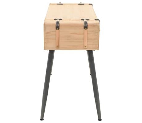 vidaXL Table console Bois massif de sapin 115 x 40,5 x 76 cm[3/9]