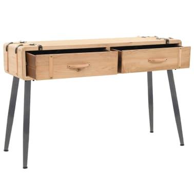 vidaXL Table console Bois massif de sapin 115 x 40,5 x 76 cm[5/9]