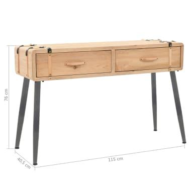 vidaXL Table console Bois massif de sapin 115 x 40,5 x 76 cm[9/9]