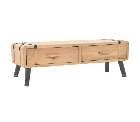 vidaXL Televizoriaus spintelė, masyvi eglės mediena, 120x33x35cm[1/9]