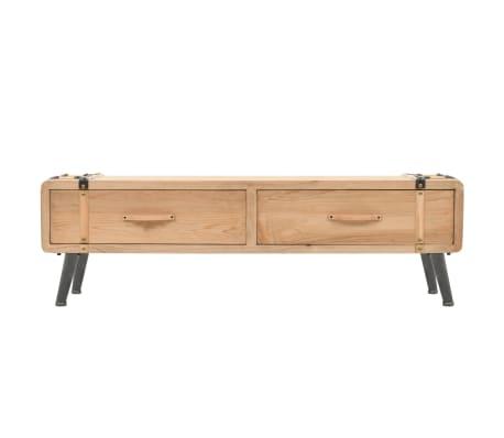 vidaXL Televizoriaus spintelė, masyvi eglės mediena, 120x33x35cm[2/9]