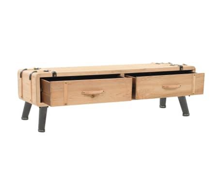 vidaXL Televizoriaus spintelė, masyvi eglės mediena, 120x33x35cm[3/9]