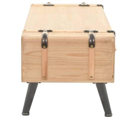 vidaXL Televizoriaus spintelė, masyvi eglės mediena, 120x33x35cm[5/9]