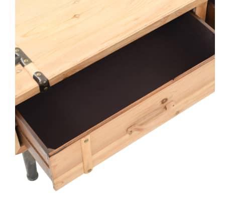 vidaXL Televizoriaus spintelė, masyvi eglės mediena, 120x33x35cm[6/9]