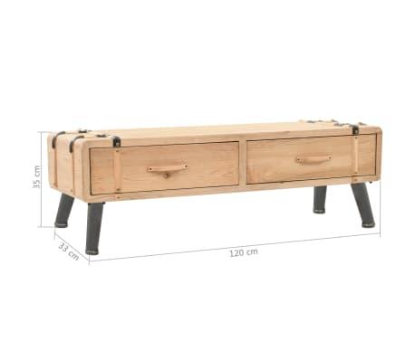 Acheter vidaxl meuble tv bois de sapin massif 120 x 33 x - Meuble tv sapin massif ...