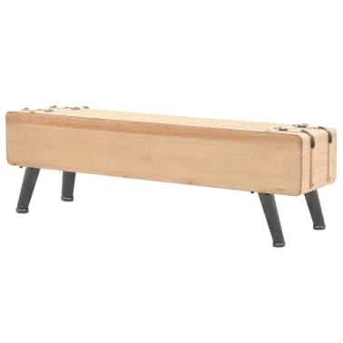vidaXL Televizoriaus spintelė, masyvi eglės mediena, 120x33x35cm[4/9]