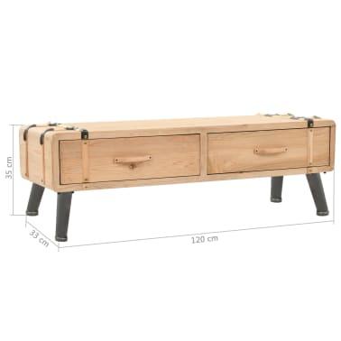 vidaXL Televizoriaus spintelė, masyvi eglės mediena, 120x33x35cm[9/9]