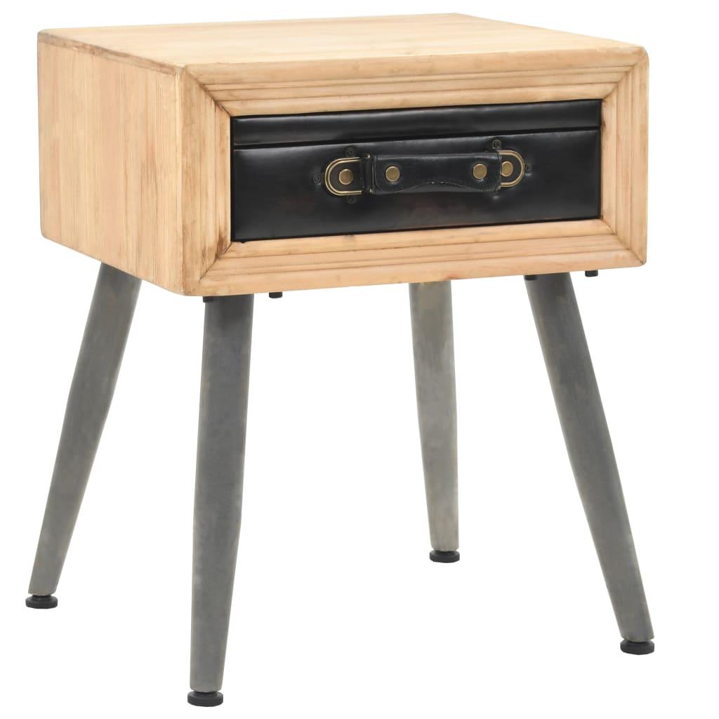 vidaXL Noční stolek z masivního jedlového dřeva 43 x 38 x 50 cm