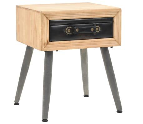 vidaXL Noptieră, 43x38x50 cm, lemn masiv de brad