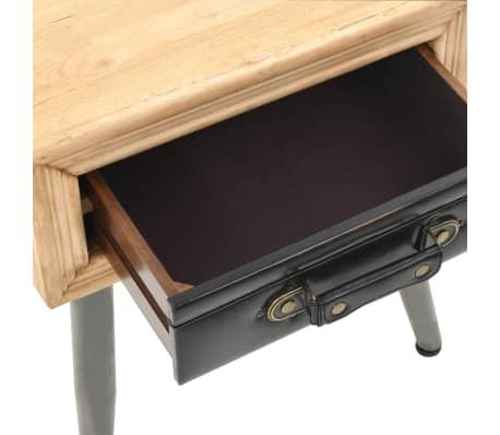 vidaXL Table de chevet Bois de sapin massif 43 x 38 x 50 cm[6/9]