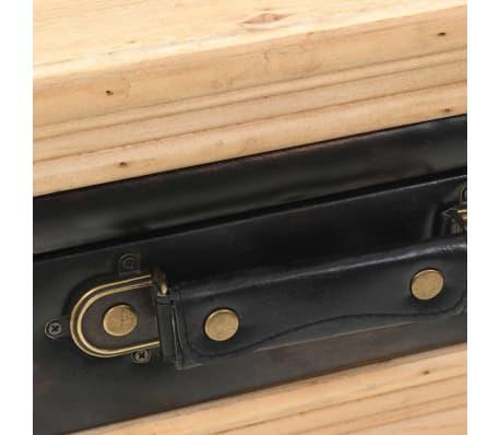 vidaxl table de chevet bois de sapin massif 43 x 38 x 50 cm. Black Bedroom Furniture Sets. Home Design Ideas
