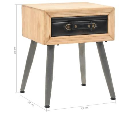 vidaXL Table de chevet Bois de sapin massif 43 x 38 x 50 cm[9/9]