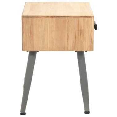 vidaXL Table de chevet Bois de sapin massif 43 x 38 x 50 cm[3/9]