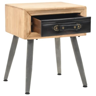 vidaXL Table de chevet Bois de sapin massif 43 x 38 x 50 cm[5/9]