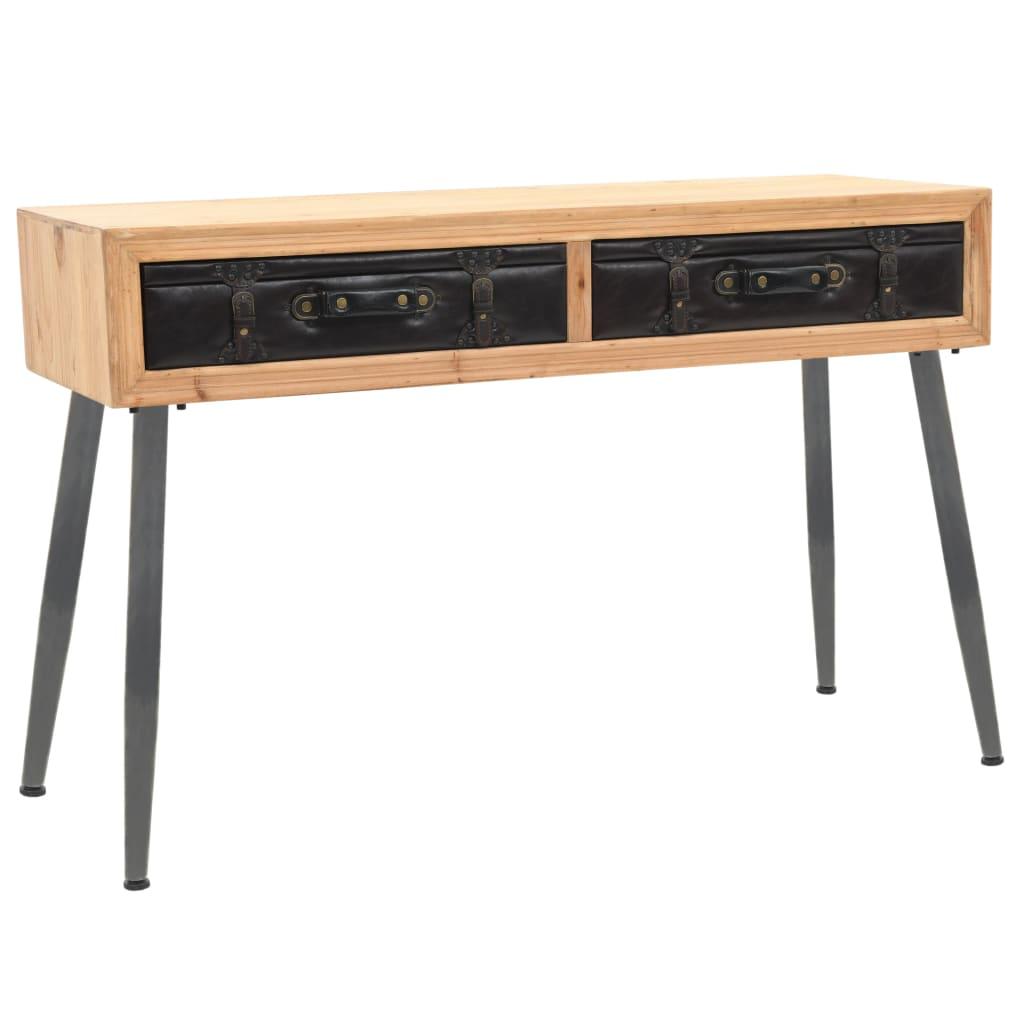 vidaXL Masă consolă, 115 x 41 x 75,5 cm, lemn masiv de brad poza 2021 vidaXL