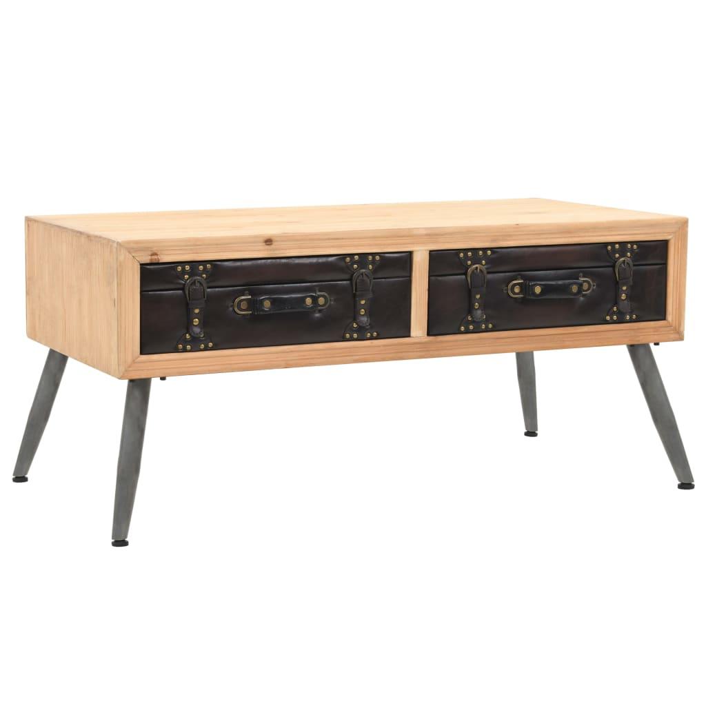vidaXL Table basse Bois massif de sapin 115 x 55 x 50 cm