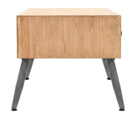 vidaXL Coffee Table Solid Fir Wood 115x55x50 cm[4/9]