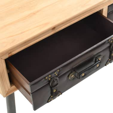 vidaXL Coffee Table Solid Fir Wood 115x55x50 cm[6/9]