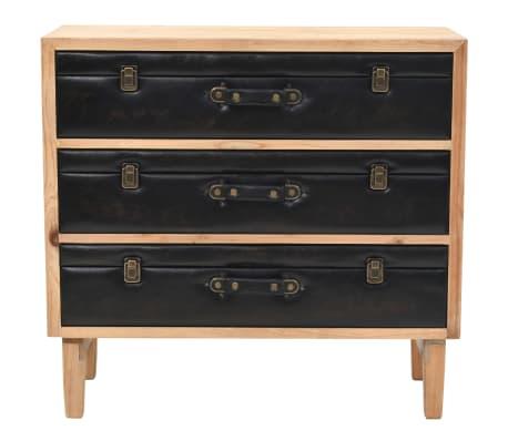vidaXL Szafka z szufladami, lite drewno jodłowe, 80 x 36 x 75 cm[2/10]