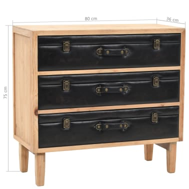 vidaXL Szafka z szufladami, lite drewno jodłowe, 80 x 36 x 75 cm[10/10]