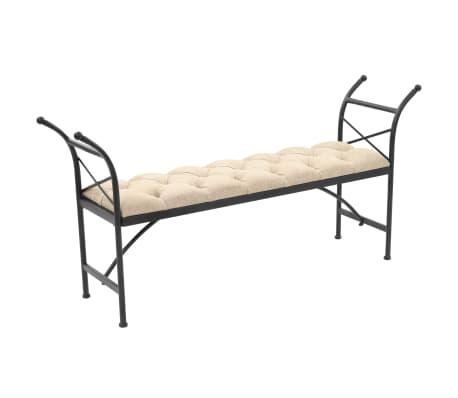vidaXL Sitzbank mit Stoffpolsterung 148,5 × 35 × 71,5 cm[1/7]