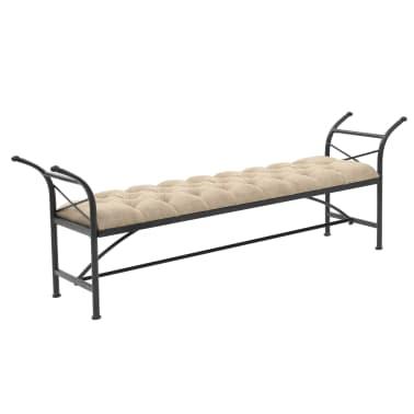 vidaXL Sitzbank mit Stoffpolsterung 185,5 × 36 × 72,5 cm[1/7]