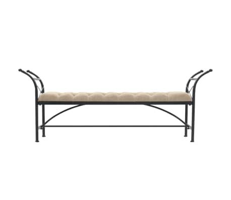 vidaXL Sitzbank mit Stoffpolsterung 185,5 × 36 × 72,5 cm[2/7]