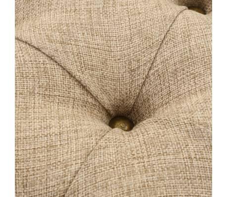 vidaXL Sitzbank mit Stoffpolsterung 185,5 × 36 × 72,5 cm[6/7]