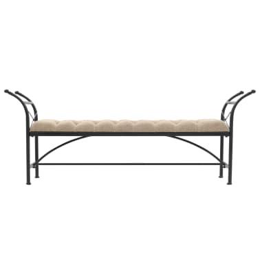 vidaXL Bancă, tapițerie material textil, 185,5x36x72,5 cm[2/7]