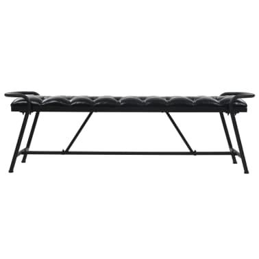 vidaXL Banc Revêtement en cuir artificiel 160 x 40,5 x 50,5 cm[2/7]