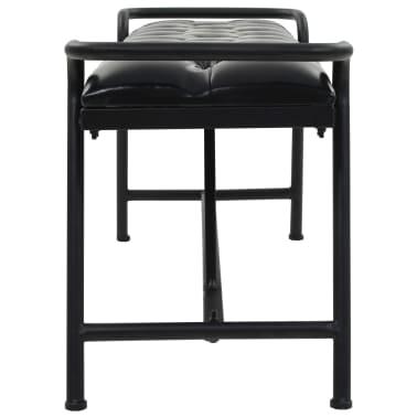 vidaXL Banc Revêtement en cuir artificiel 160 x 40,5 x 50,5 cm[3/7]