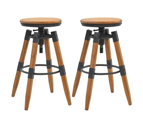 vidaXL Bar Stools 2 pcs Solid Fir Wood
