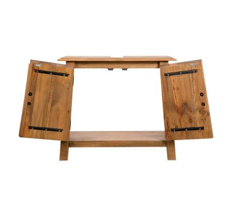 vidaXL Armario tocador cuarto de baño madera reciclada pino 70x32x63cm[5/9]